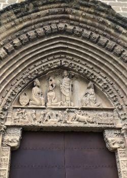 traveling steps church door