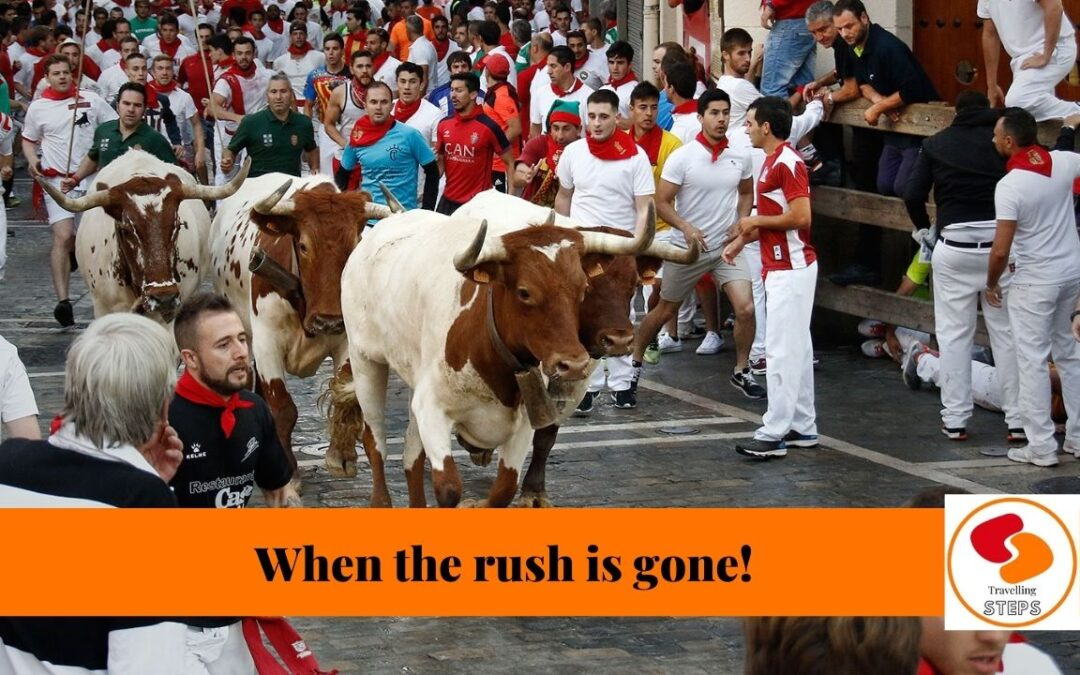 Once you run with the bulls!
