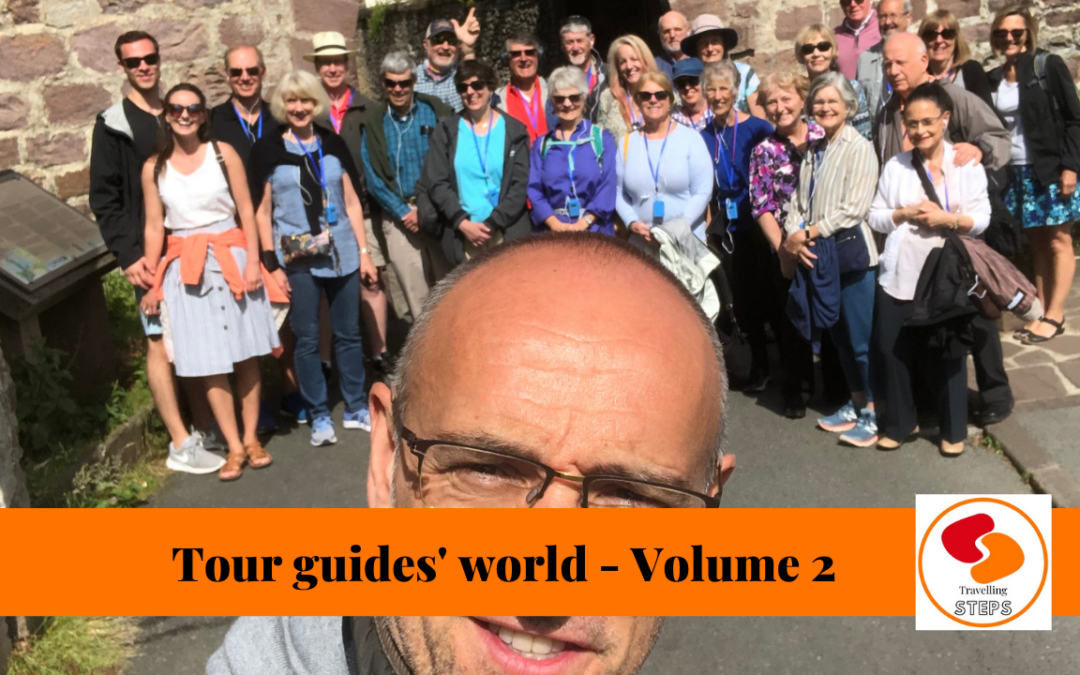 Traveling steps tour guide